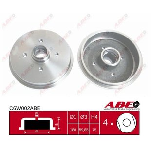 Bremstrommel, 1 Stück ABE C6W002ABE