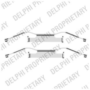 Zubehörsatz, Scheibenbremsbelag DELPHI LX0439