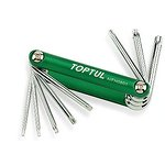 Zestaw kluczy trzpieniowych Torx TOPTUL scyzoryk 8 sztuk