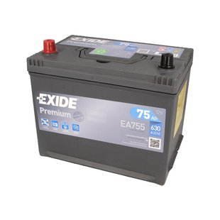 Akumulator EXIDE PREMIUM 75Ah 630A L+
