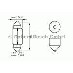 Żarówka (pomocnicza) C5W BOSCH Longlife Daytime - karton 1 szt., rurkowa