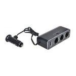 Gniazdo zapalniczki samochodowej 3+USB MAMMOOTH