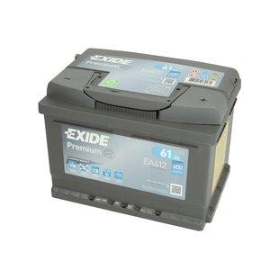 Akumulator EXIDE PREMIUM 61Ah 600A P+