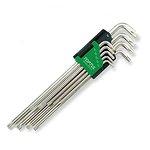 Zestaw kluczy trzpieniowych Torx TOPTUL 9 sztuk