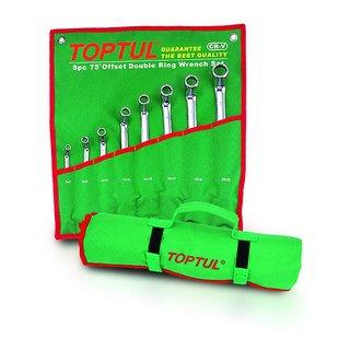 Zestaw kluczy oczkowych TOPTUL 8 sztuk