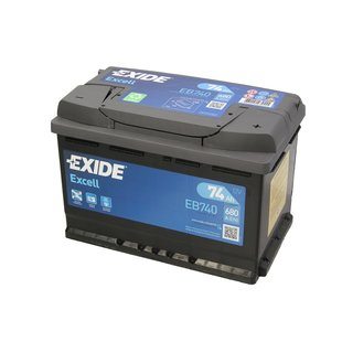 Akumulator EXIDE EXCELL 74Ah 680A P+