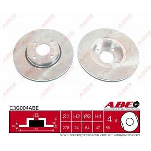 Bremsscheibe ABE C3G004ABE, 1 Stück