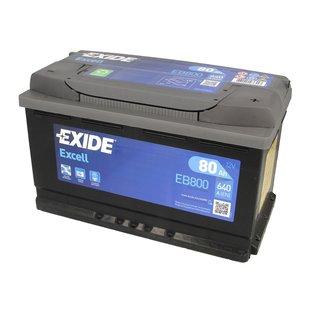 Akumulator EXIDE EXCELL 80Ah 640A P+