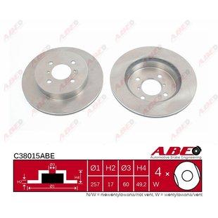 Bremsscheibe ABE C38015ABE, 1 Stück