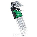 Zestaw kluczy ampulowych TOPTUL 9 sztuk