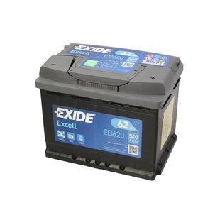 Akumulator EXIDE EXCELL 62Ah 540A P+